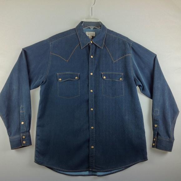 c39aa034 Ryan Michael Western Shirt Men Large Blue Silk. M_5bf5c15a12cd4a5bd672f75a